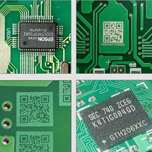 Fiber laser printer coding effect on the circuit board